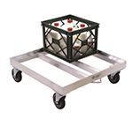 "New Age 1622 Milk Crate Dolly w/ Open Frame & 16-Crate Capacity, 9x26.75x26.75"", Aluminum"
