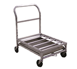 "New Age 1630 Food Box Dolly w/ 500-lb Capacity & 12"" Height Deck, 24x36x33"", Aluminum"