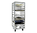 New Age 1635 Roll In Pan Rack w/ 12-Universal Guides & Stepped Angle, End Loading, Aluminum