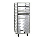New Age 1637 Roll In Pan Rack w/ 18-Universal Guides & Stepped Angle, End Loading, Aluminum