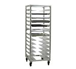 New Age 1640 Mobile Pan Rack w/ 13-Universal Guides & Stepped Angle, End Loading, Aluminum