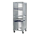 New Age 1642 Mobile Pan Rack w/ 20-Universal Guides & Stepped Angle, End Loading, Aluminum