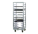 New Age 1655 Mobile Pan Rack w/ 13-Adjustable Universal Guides & Stepped Angle, End Loading