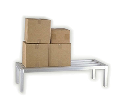 "New Age 2031 Square Bar Dunnage Rack w/ 1-Tier & 3000-lb Capacity, 8x24x24"", Aluminum"