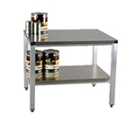 "New Age 24ESS29 24"" x 29"" Stationary Equipment Stand for General Use, Undershelf"