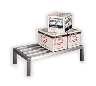 "New Age 4005 48"" Stationary Dunnage Rack w/ 4000-lb Capacity, Aluminum"