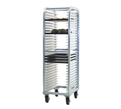 New Age 4330 Heavy Duty Bun Pan Rack w/ (30) 15-Pan Capacity & End Loading, Aluminum