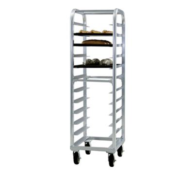New Age 4333 Heavy Duty Bun Pan Rack w/ 12-Pan Capacity & End Loading, Aluminum