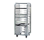 New Age 4337 Heavy Duty Roll In Bun Pan Rack w/ 11-Pan Capacity & End Loading, Aluminum