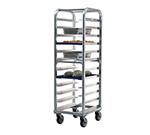 "New Age 4340 21.5""W 12-Bun Pan Rack w/ 5"" Bottom Load Slides"