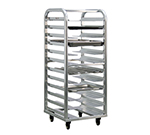 "New Age 4635 Heavy Duty Bun Pan Rack w/ 12-Pan Capacity, End Loading & 5"" Casters, Aluminum"