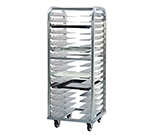 New Age 4637 Heavy Duty Roll In Bun Pan Rack w/ 18-Pan Capacity & End Loading, Aluminum