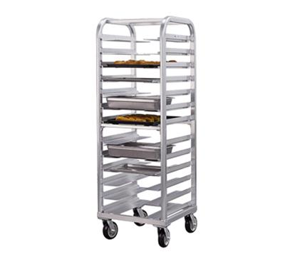 New Age 4640 Heavy Duty Bun Pan Rack w/ 13-Pan Capacity, End Loading, Swivel Casters Aluminum