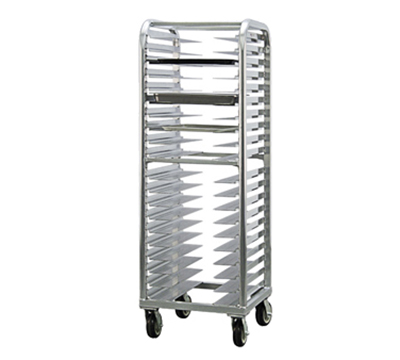 New Age 4642 Heavy Duty Bun Pan Rack w/ 20-Pan Capacity, End Loading, Swivel Casters Aluminum