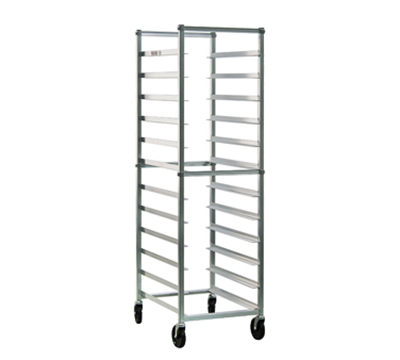 "New Age 6303 Open Full Height Pan Rack (12)18x26"" Pan Capacity Bolted Frame End Loading"