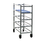 "New Age 6345 Mobile Full Height Platter Rack, Open Sides, (12)10x30"" Pan Capacity, Aluminum"