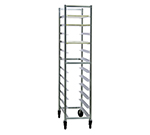 "New Age 6347 Mobile Full Height Platter Rack, Open Sides, (12)12x30"" Pan Capacity, Aluminum"