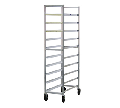 "New Age 6348 Mobile Full Height Platter Rack, Open Sides, (10)12x30"" Pan Capacity, Aluminum"