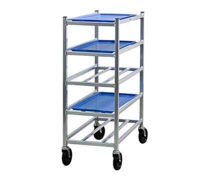 "New Age 6354 Mobile Universal Platter Rack w/ 5-Shelves, Open Sides & 5"" Casters, Aluminum"