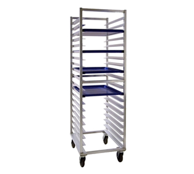 "New Age 7331 Full Height Pan Rack, Open Sides, (20)18x26"" Pan Capacity End Loading Aluminum"