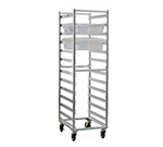 New Age 92052 Mobile Full Height Box Rack w/ Open Sides & (12)18x26-in Pan Capacity, Aluminum