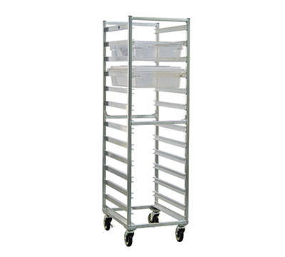 "New Age 92052 Mobile Full Height Box Rack w/ Open Sides & (12)18x26"" Pan Capacity, Aluminum"