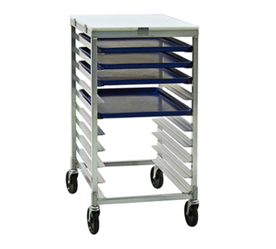 "New Age 92096 Mobile Half Height Platter Rack, Open Sides, (12)12x30"" Pan Capacity, Aluminum"