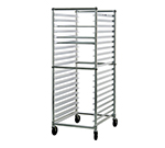 "New Age 93020KD Mobile Full Height Donut Screen Rack w/ Open Sides & (2)23x33"" Pan Capacity"