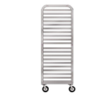 "New Age 93024 Mobile Half Height Platter Rack, Open Sides, (20)18x26"" Pan Capacity, Aluminum"