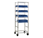 New Age 93037 Mobile Full Height Cup Glass Cart, Open Sides (6)20x20-in Rack Capacity Aluminum