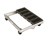New Age 93189 Angle Bread Pan Dolly w/ 5-Strap 1-lb Loaf Pan Capacity 800-lb Capacity Aluminum