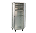 "New Age 95141 Mobile Full Height Enclosed Pan Rack w/ (24)12x20"" Pan Capacity & End Loading"