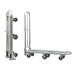 New Age 95241 Portable Folding Stock L Cart w/ Push Handle & Lock, 63x18x65.75-in, Aluminum