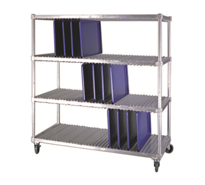 New Age 95333 Mobile Tray Drying Rack w/ 3-Levels & (40)18x26-in Pan Capacity, Aluminum