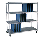 New Age 95413 2-Level Mobile Drying Rack for Trays