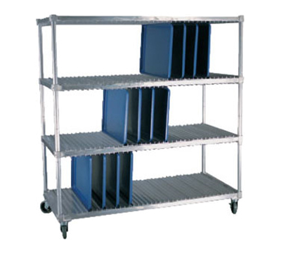 New Age 95413 Mobile Tray Drying Rack w/ 2-Levels & (40)18x26-in Pan Capacity, Aluminum