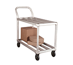New Age 95661 19x46-in Mobile Tubular Deck Cart w/ 700-lb Capacity & 5-in Casters, Aluminum
