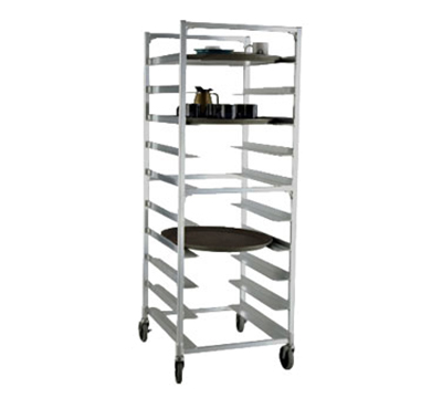 New Age 95681 63-in Mobile Tray Rack, Open Sides & (9)22x26.87-in Oval Tray Capacity Aluminum