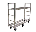 New Age 95762 Single Platform U Boat Cart w/ 1500-lb Capacity & Swivel Casters, Polyurethane