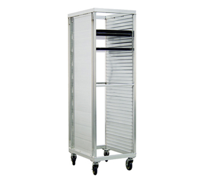 "New Age 96328 Mobile Full Height Pan Rack w/ Open Ends & (39)18x26"" Pan Capacity, Aluminum"