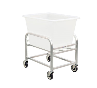 New Age 96699 Bulk Cart w/ 6-Bushel Capacity & White Tub, 36x20x30-in, Aluminum