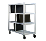 New Age 96706 Mobile Tray Drying Rack w/ 3-Tray Levels & 144-Tray Capacity, Aluminum
