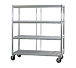 New Age 96708 Mobile Tray Drying Rack w/ 3-Tray Levels & 240-Tray Capacity, Aluminum