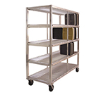 New Age 96709 Mobile Tray Drying Rack w/ 4-Tray Levels & 320-Tray Capacity, Aluminum