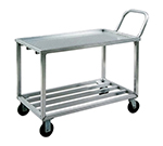 New Age 97126 24.38x53-in Mobile Wet Produce Cart w/ 700-lb Capacity, Welded Aluminum