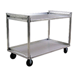 New Age 97178 2-Level Aluminum Utility Cart w/ 1500-lb Capacity, Raised Ledges