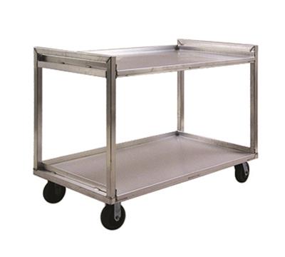 "New Age 97180 Correctional Utility Cart w/ 2-Open Shelves, 41x29x54"", Welded Aluminum"