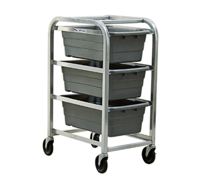 "New Age 97205 Mobile Lug Rack w/ Open Frame Design & (3)42x18.75x26"" Lug Capacity, Aluminum"