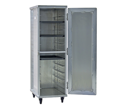 New Age 97243 Mobile Full Height Transport Cabinet w/ (12)18x26-in Pan Capacity, Aluminum
