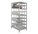 New Age 97294 Stationary First In First Out Can Rack w/ Sloped Glides & Adjustable Feet